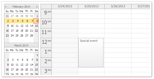 Event Calendar for JavaScript/HTML5/jQuery