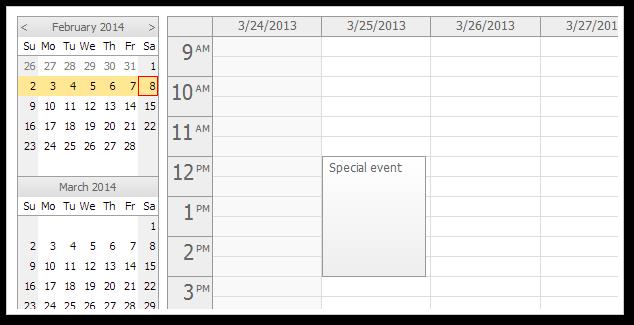 Event Calendar Js : Daypilot ajax monthly event calendar for asp mvc in
