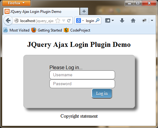 default login screen rendered with style_01.css