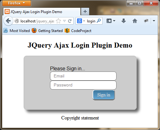 customized login screen rendered with style_01.css