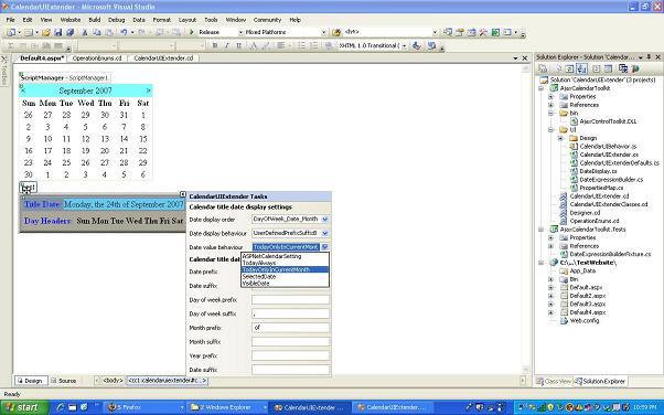 Calendar Extender Design : Calendar ui extender control codeproject
