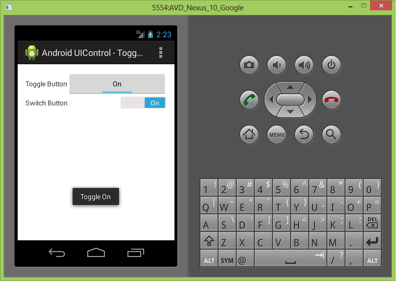Android UIControls - ToggleButton and Switch