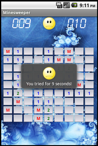 Minesweeper - Game lost screenshot