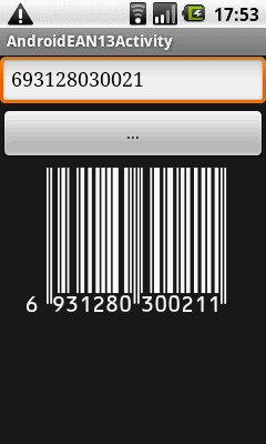 Activity with barcode