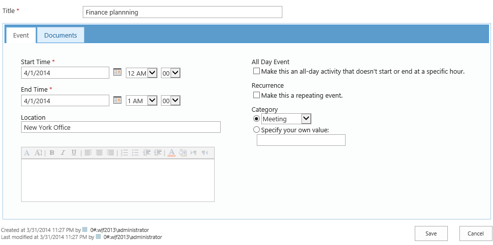 how to create a project request form in sharepoint