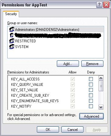 NtRegEdit Permissions Image