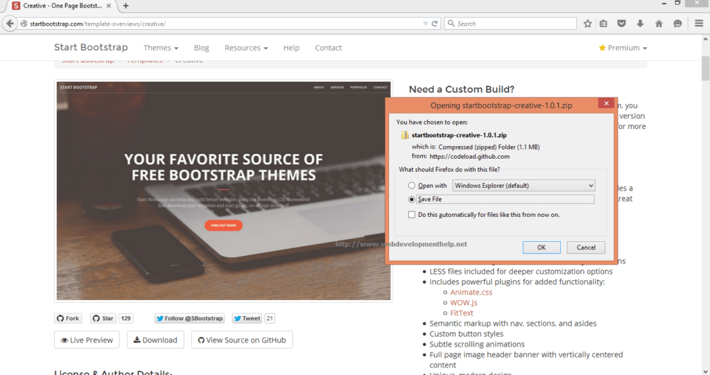 how to create bootstrap website in asp.net