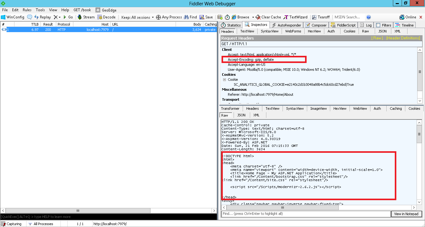 Improve the Performance of ASP.NET MVC Web Application Using HTTP Compression