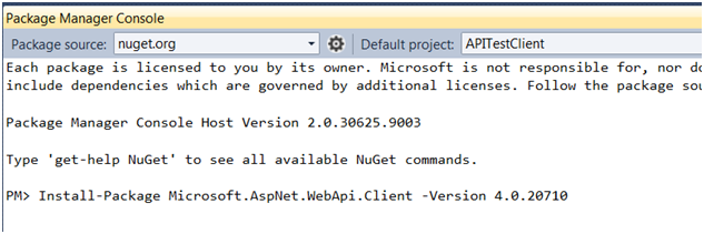 how to create web api project in visual studio 2010