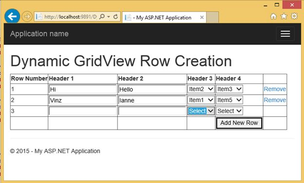 Dynamically adding and deleting rows in gridview and saving all rows at once codeproject for Html table th 2 rows
