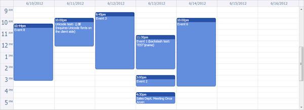 AJAX Event Calendar for ASP.NET MVC 3