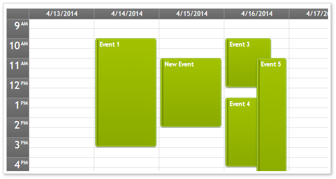 AJAX Event Calendar for ASP.NET MVC - Green CSS Theme