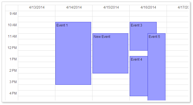 AJAX Event Calendar for ASP.NET MVC - Google-Like CSS Theme