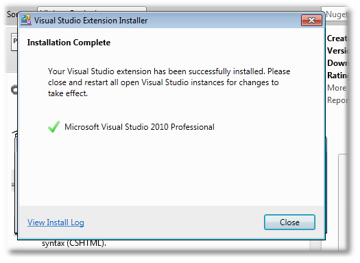 ASP.NET MVC 4 Install using Nuget package - Shemeer NS