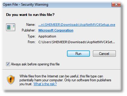 ASP.NET MVC 4 Install using Standalone Installer - Shemeer NS
