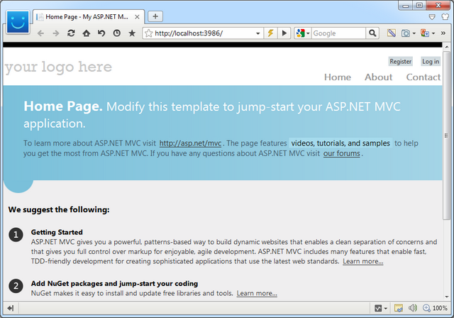 First MVC 4 Web Application