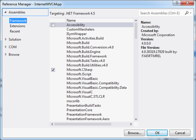 how to add kendo mvc reference