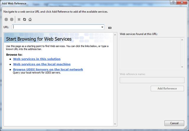 Web Service Reference