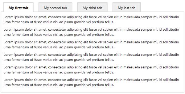 jQuery Tabs MVC Control