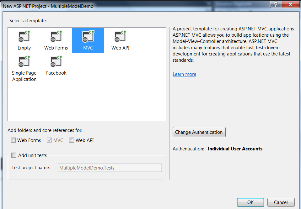 Visual Studio 2013-MVC-Tempate