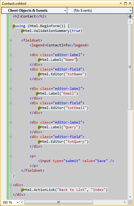 creating custom html helpers mvc 4 razor An absolute beginner's tutorial on html helpers and following html helpers are built into the aspnet mvc htmllistboxfor creating custom html helpers.