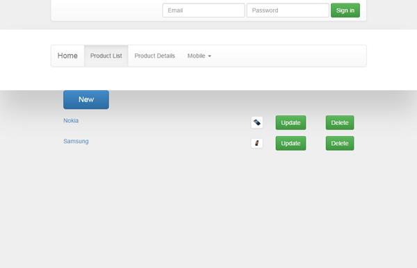 angular single page application sample