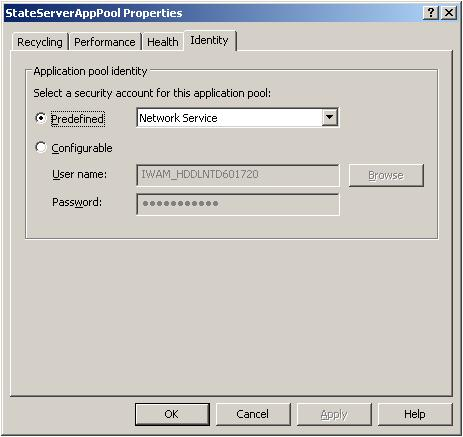 Application Pool Creation