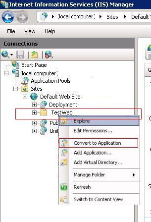 how to configure iis 7 & access sample asp net website with