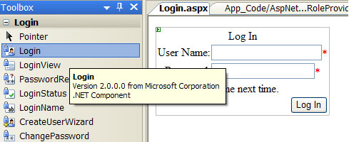Common login controls