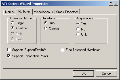 ATL Object Wizard Properties (Attributes)