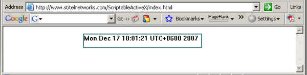 Scriptable ActiveX Web Control