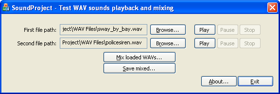 SoundProject - Screenshot