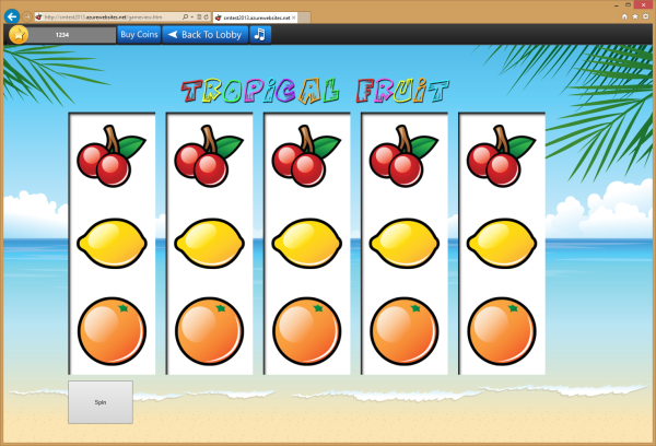 Early version for Slot Machine for the web