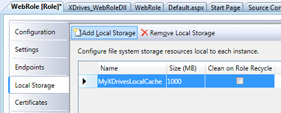 Adding LocalStorage for X-Drives' Mount Read Cache