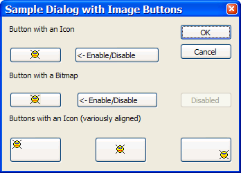 Sample Dialog using CImageButtonWithStyle class