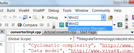 Figure 2 - Launching the configuration manager