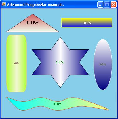 Advanced Progressbar sample