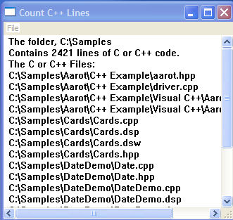 Count Lines Of C Or C Code Codeproject