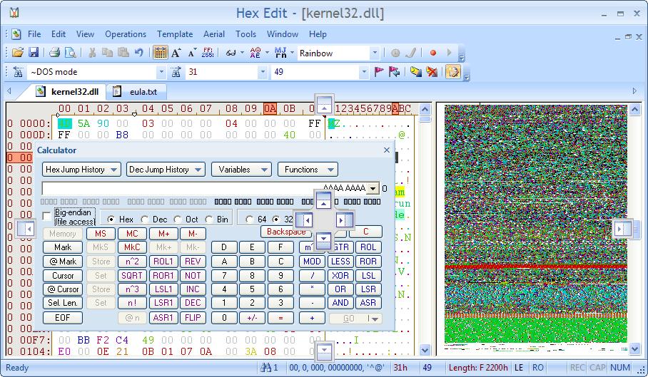 Visual c binary to hex