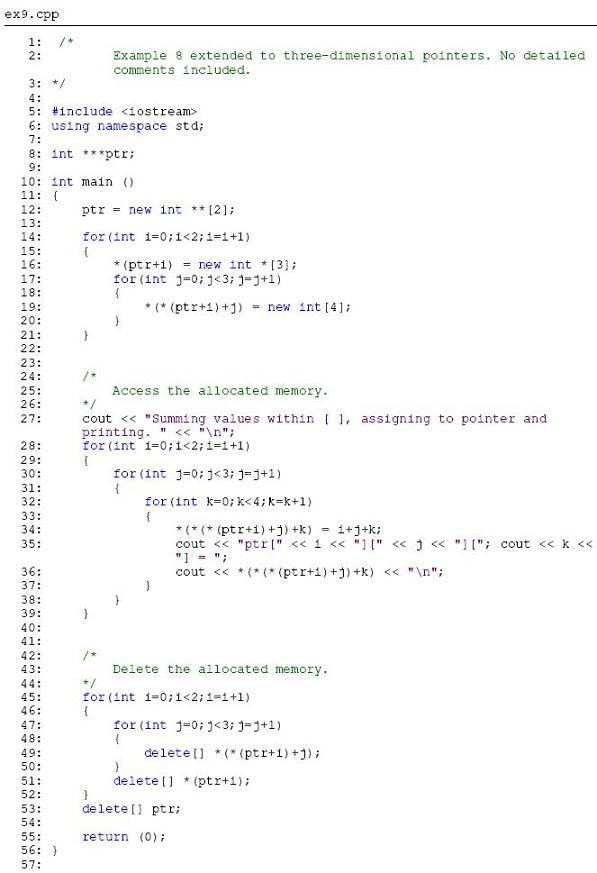 write a c program using dynamic memory allocation