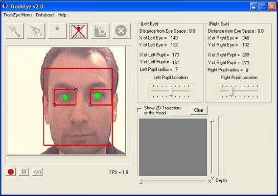 TrackEye : Real-Time Tracking Of Human Eyes Using a Webcam