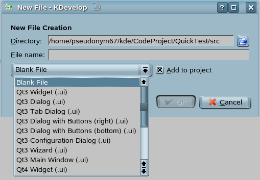 qt how to create new dialog constructor