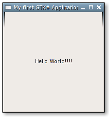 GTK# Hello World