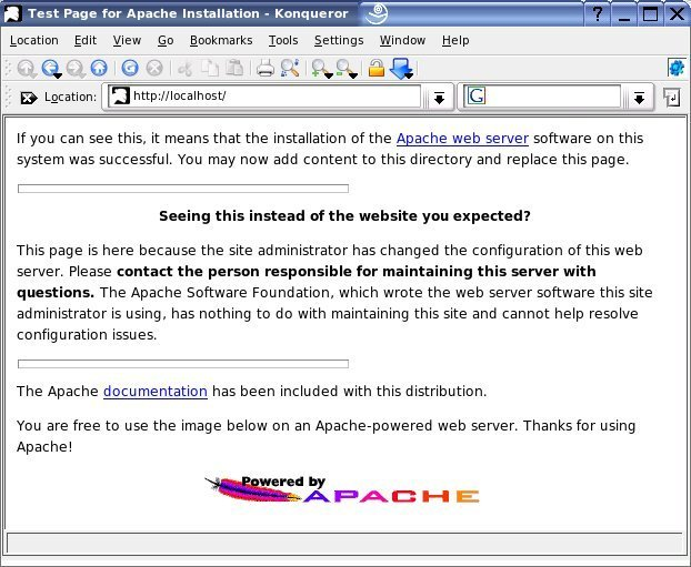 Apache Web Server running on Linux