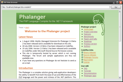 Web browser in PHP