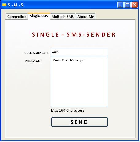 For Sending Single SMS