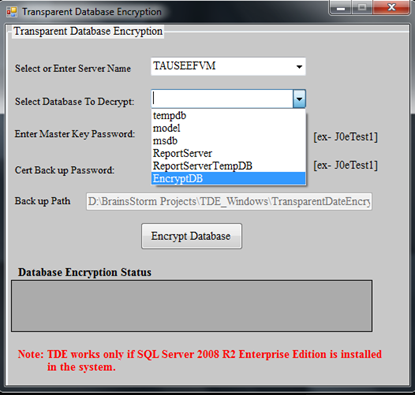 how to give a folder an encryption key