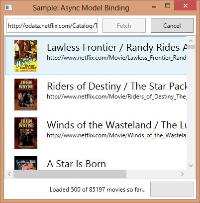 async model binding sample
