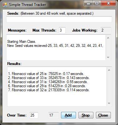 Simple Thread Tracker