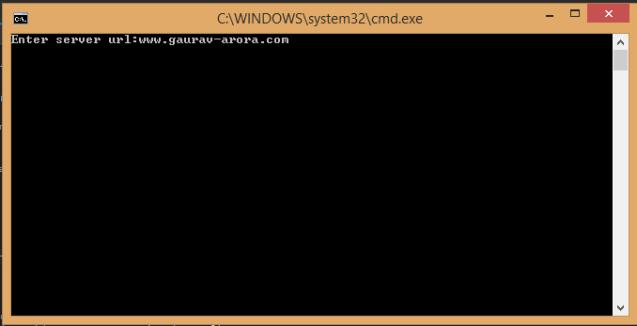 Input for server